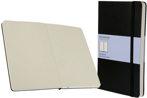 MOLESKINE ART COLLECTION SKETCH BOOK 5X8.25 BLACK