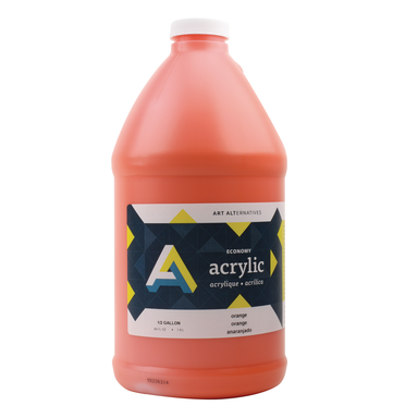 Economy Acrylics, Half Gallon Bottles, Orange