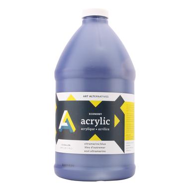 Economy Acrylics, Half Gallon Bottles, Ultramarine Blue