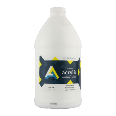 Economy Acrylics, Half Gallon Bottles, White