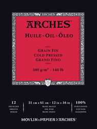 ARCHES OIL PAD 12X16 12 SHEETS