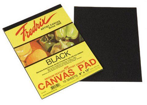 Fredrix Black Canvas Pads - 4 Sizes Available