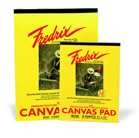 Fredrix Real Canvas Pads 10 Sheets 12x16