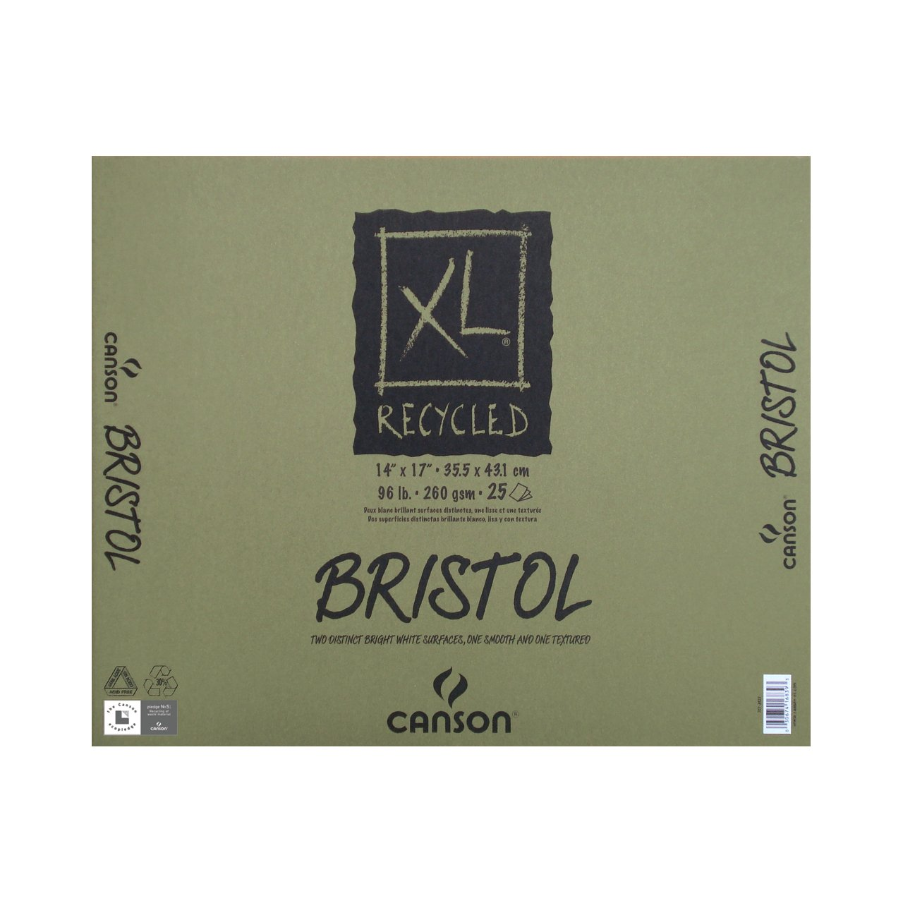 Canson XL Recycled Bristol Pads, 14 x 17 25 Shts./Pad
