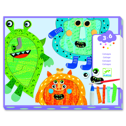 Happy Monsters Tear and Stick Collage Kit