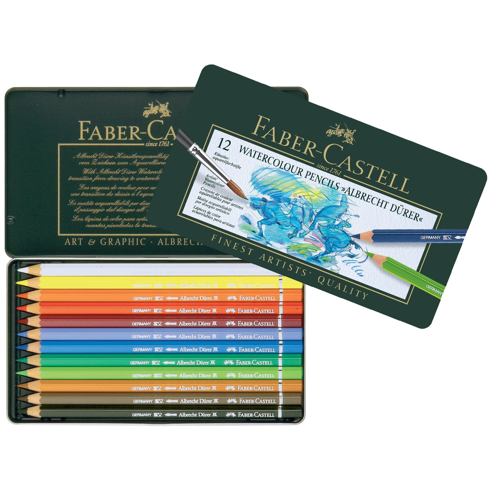 Faber Castell Albrecht Dürer Watercolor Pencils 12 Set