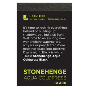 Mini Paper Pads, Stonehenge Aqua Black 140 lb. - Cold-Press, 10 Shts