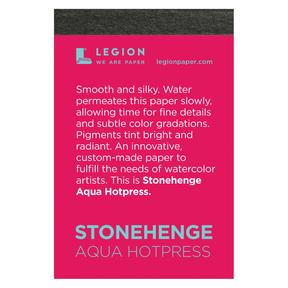Mini Paper Pads, Stonehenge Aqua 140 lb. - Hot-Press, 10 Shts