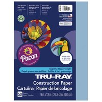 Tru-Ray Construction Paper, 9 x 12, Sky Blue