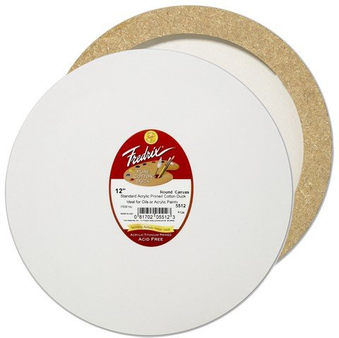 Fredrix Artist Series Round Stretched Canvas