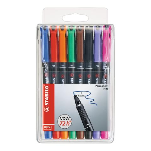 Stabillo OHPen Universal Pen Sets, 8 Color Set - .7mm Permanent
