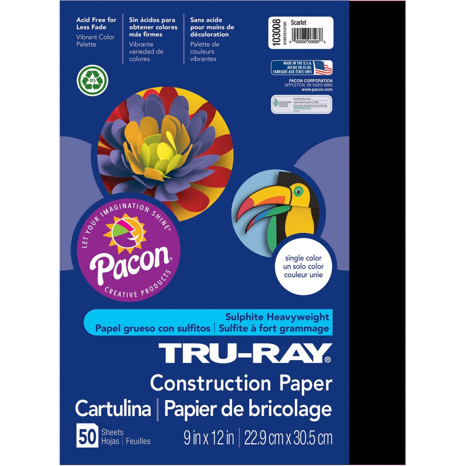 Tru-Ray Construction Paper, 9 x 12, Black