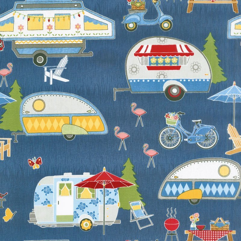 Let's Go Glamping - Dark Blue Packed Campers #68413-414