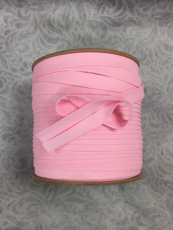 High Quality 1/2 Double Fold Bias Binding 10yd Cut - Carnation Pink