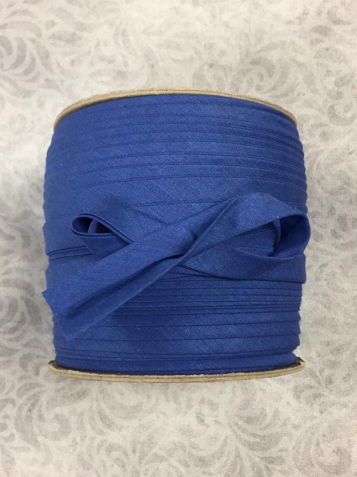 High Quality 1/2 Double Fold Bias Binding 10yd Cut - Royal