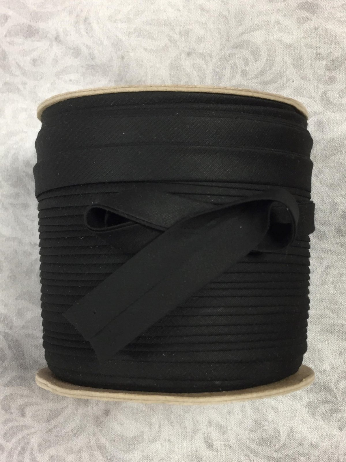 High Quality 1/2 Double Fold Bias Binding 10yd Cut -Black