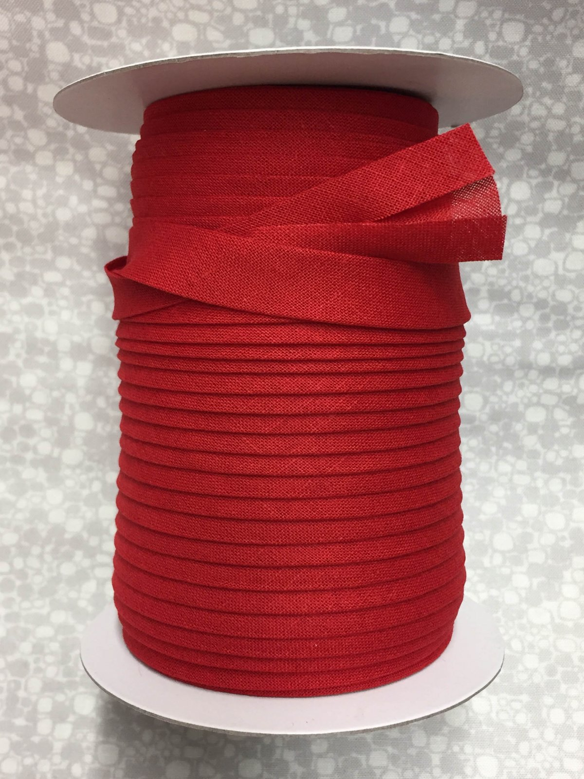1/2 Finish Double Fold Economy Bias Binding, 10yd -Red