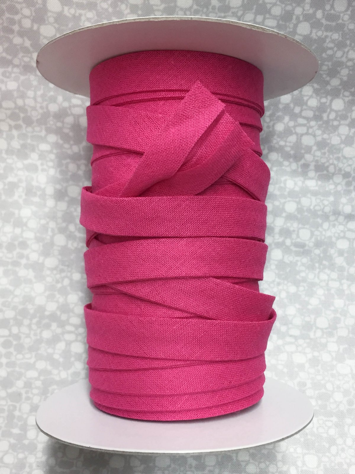 1/2 Finish Double Fold Economy Bias Binding, 10yd - Shocking Pink