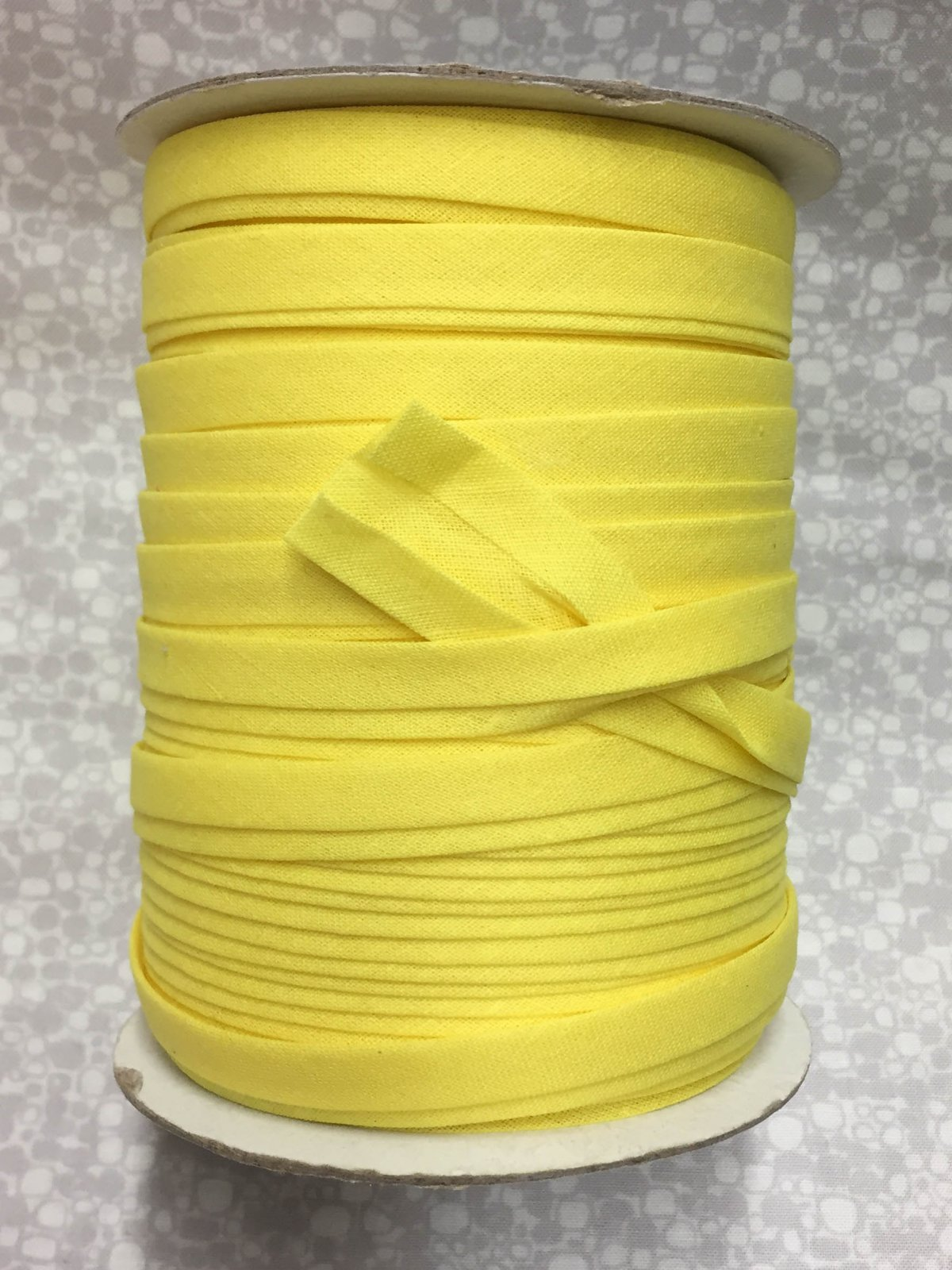 1/2 Finish Double Fold Economy Bias Binding, 10yd - Yellow