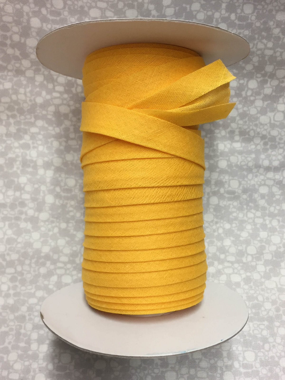 1/2 Finish Double Fold Economy Bias Binding, 10yd - School Bus