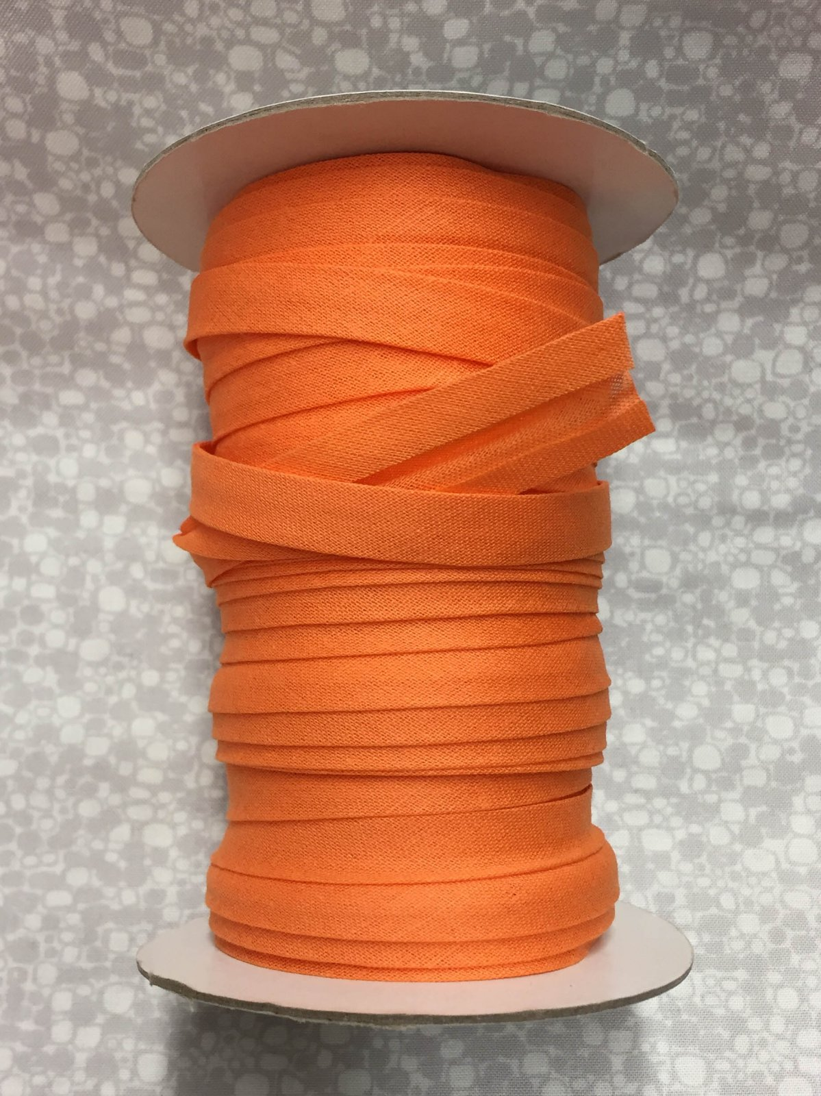 1/2 Finish Double Fold Economy Bias Binding, 10yd - Orange