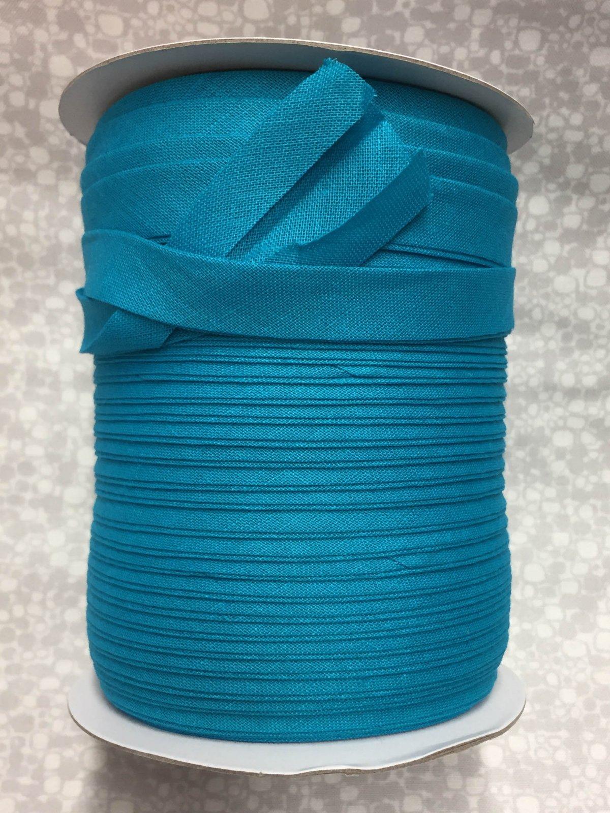 1/2 Finish Double Fold Economy Bias Binding, 10yd - Turquoise