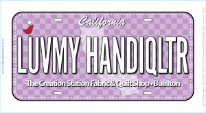 Luvmy Handiqltr Fabric Plate