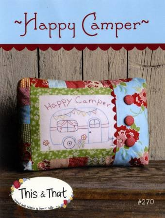 Happy Camper Pillow Pattern - This & That TAT270