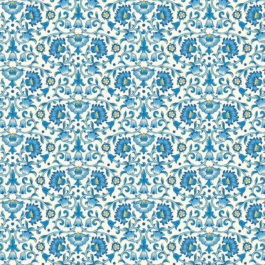 Culodden Vine B in Blue - Emporium Collection