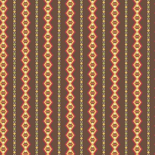 Geometric Stripe in Brown
