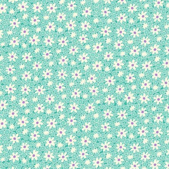 Packed Daisies in Aqua - Nana Mae V