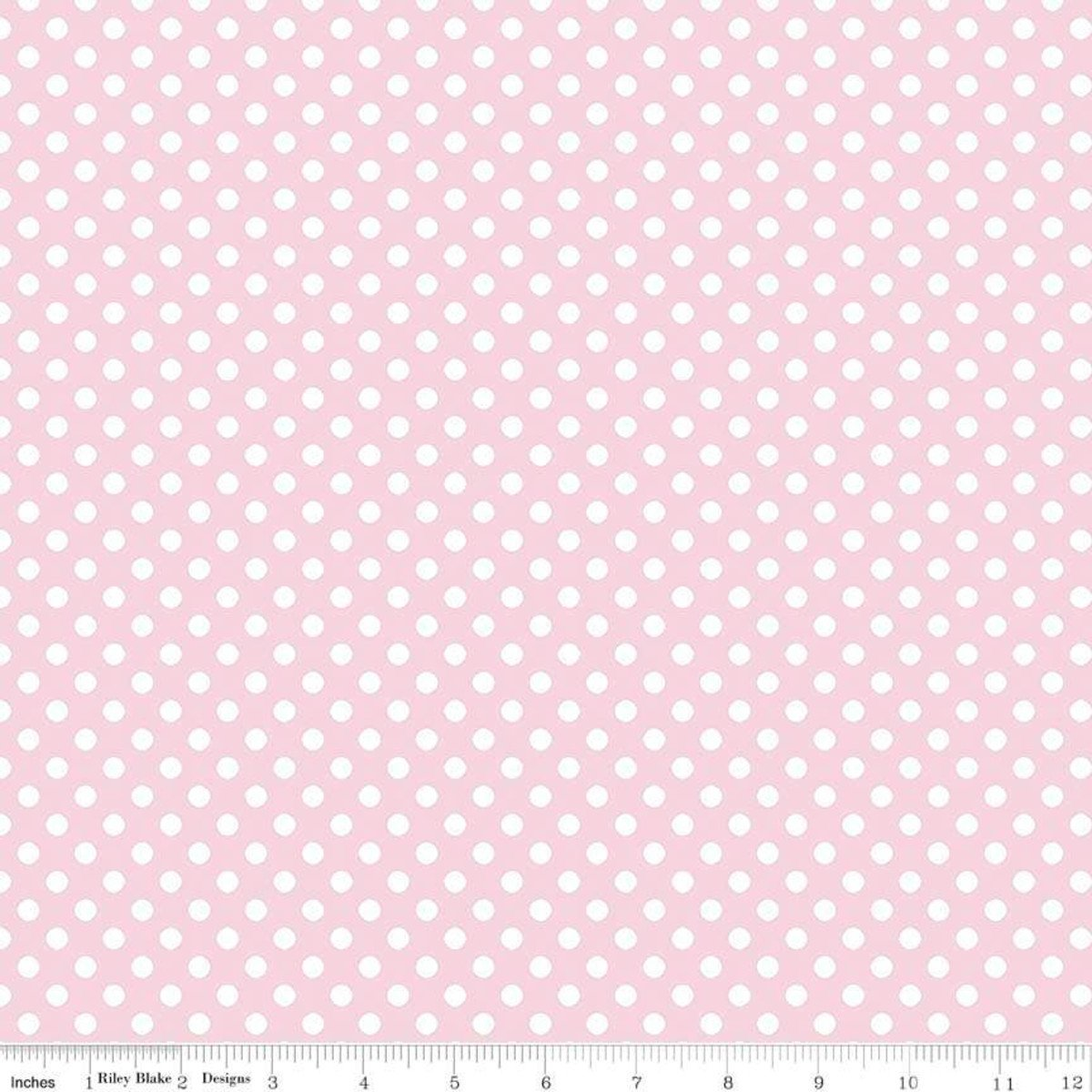 Baby Pink and White Polka Dots