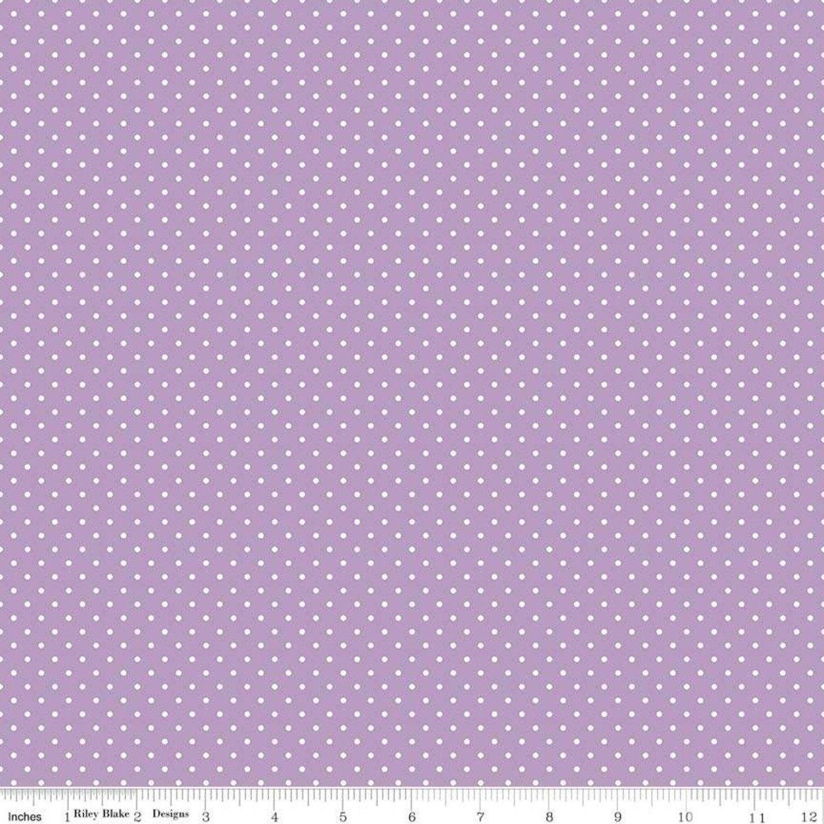 Swiss Dots in Lavender