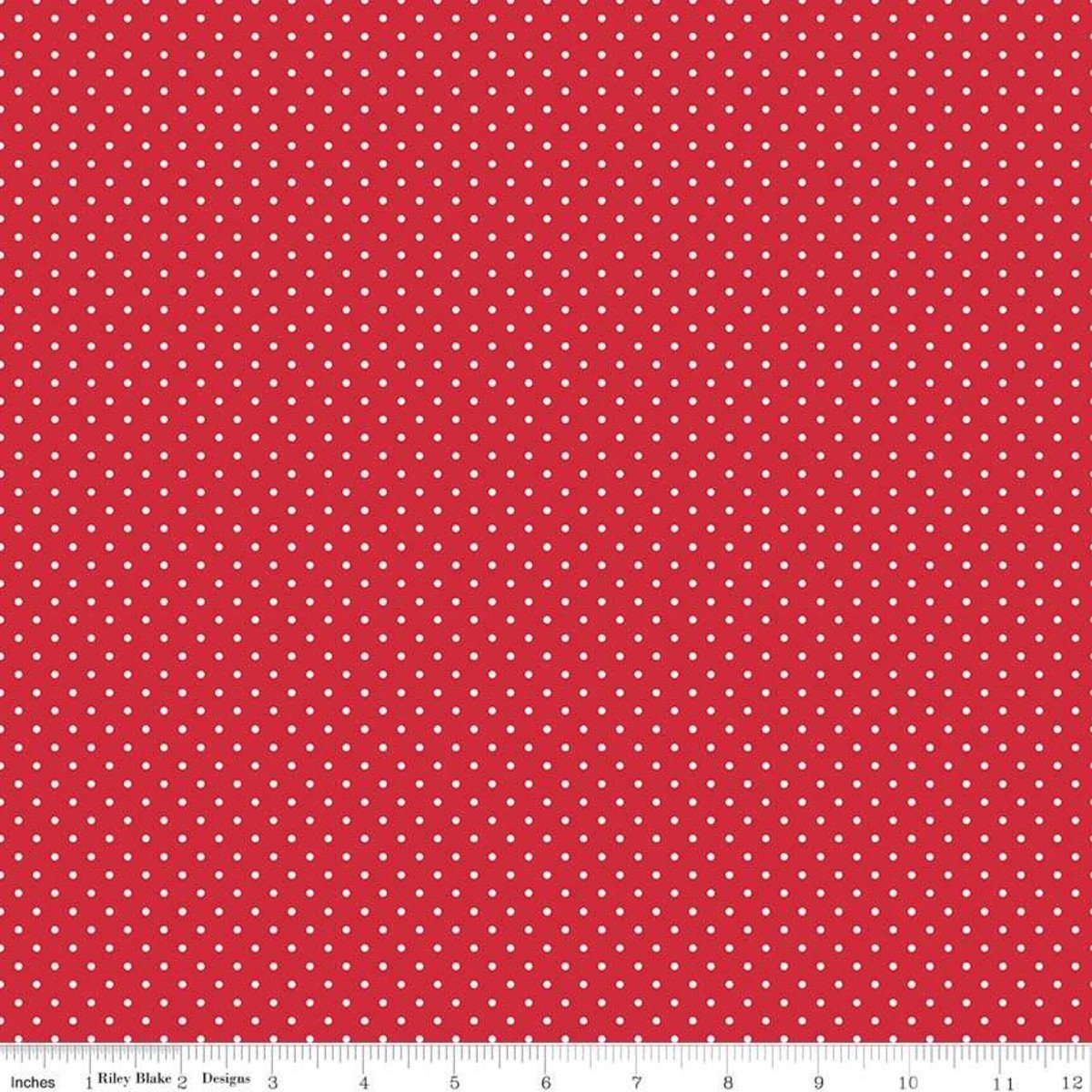 Swiss Dots in Red