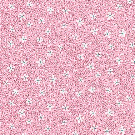 Scattered White Flowers on Baby Pink - Darlene's Favorites
