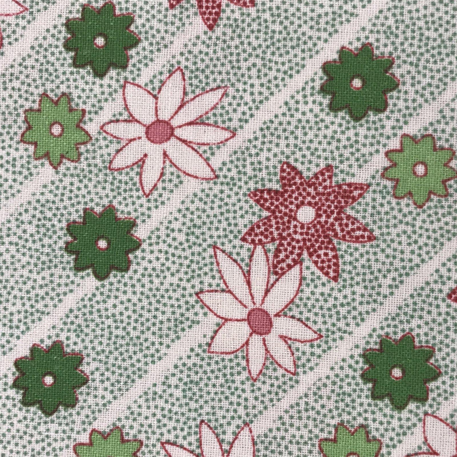 Greetings - Poinsettias on Green Stripes