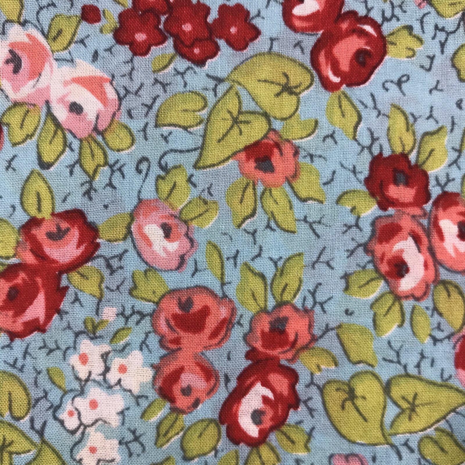 Roses on Aqua by Sue Daley Designs