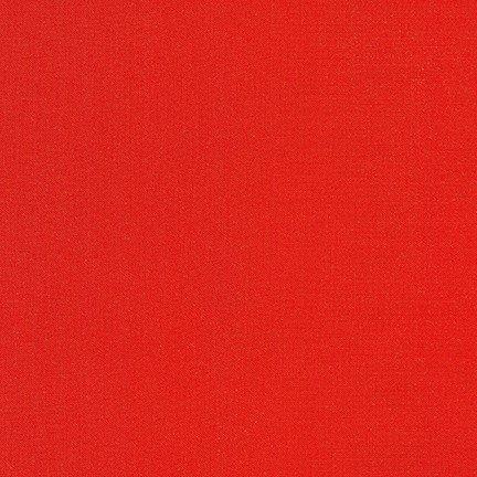 Tomato - Kona Cotton Solid