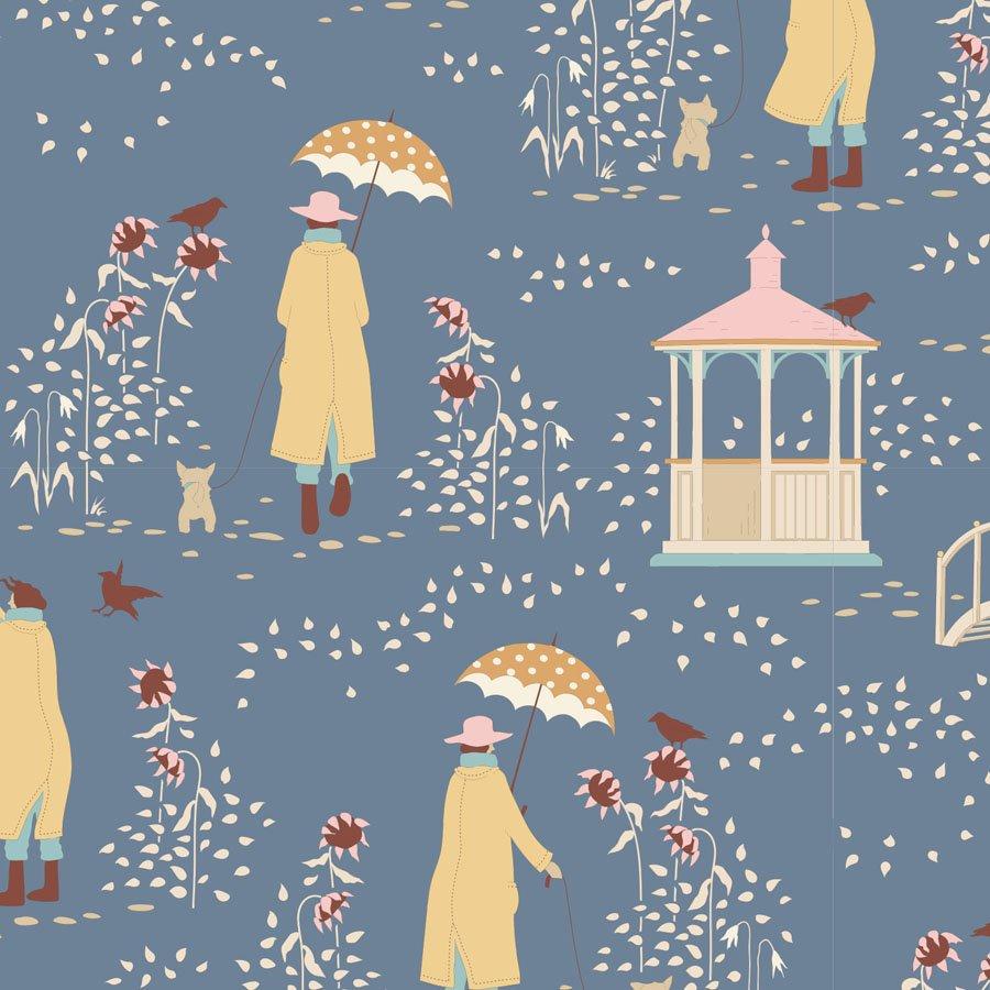 Tilda Windy Days - Walk - Blue