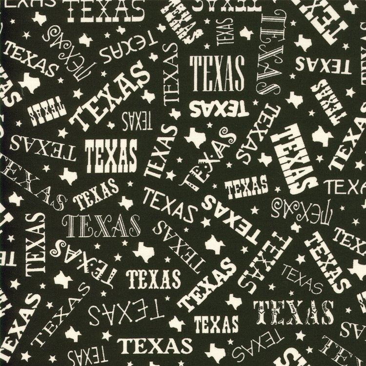Best of Texas Black Text - 5 Yard Cut