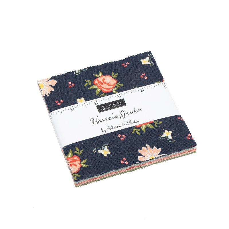 Harpers Garden 5 Charm Pack by Sherri & Chelsi | Moda Fabrics