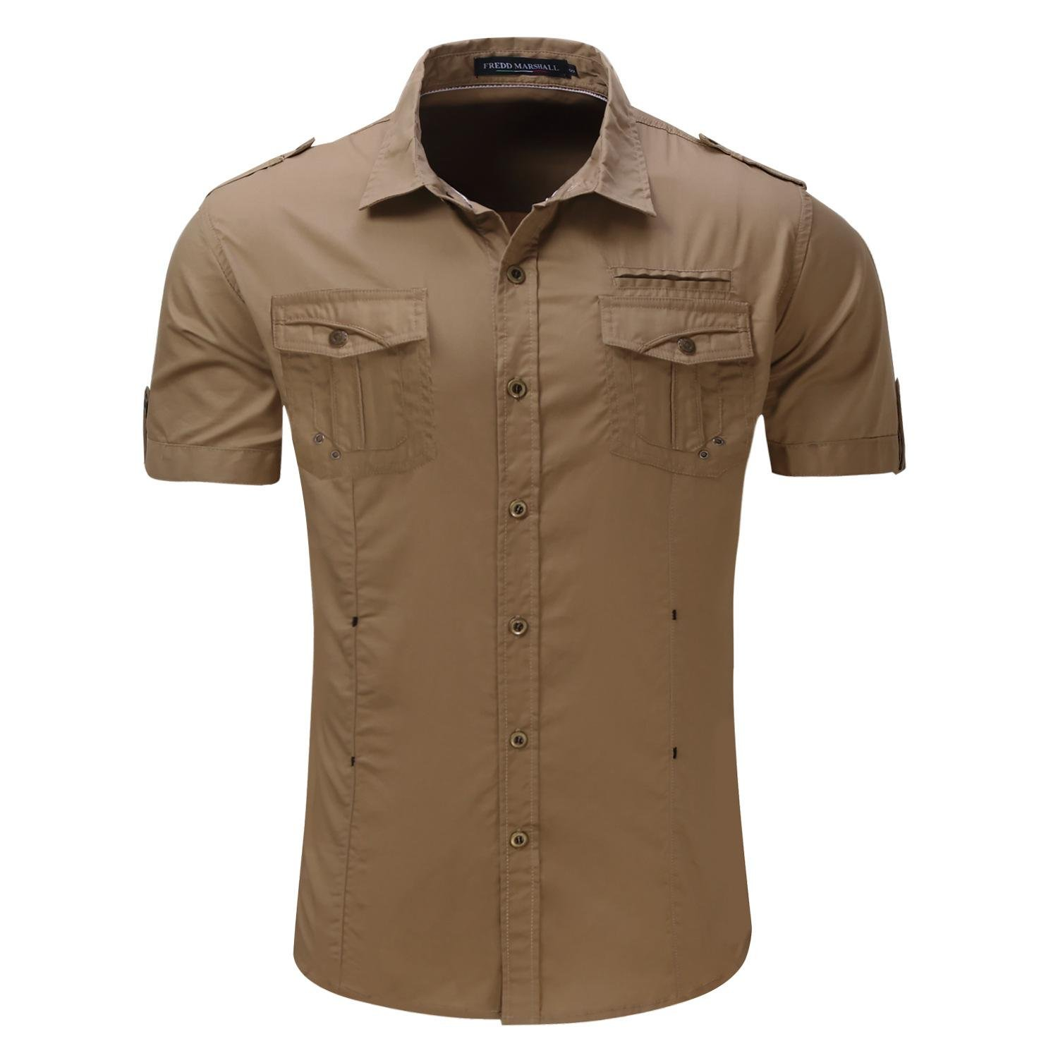 Brown Button Up