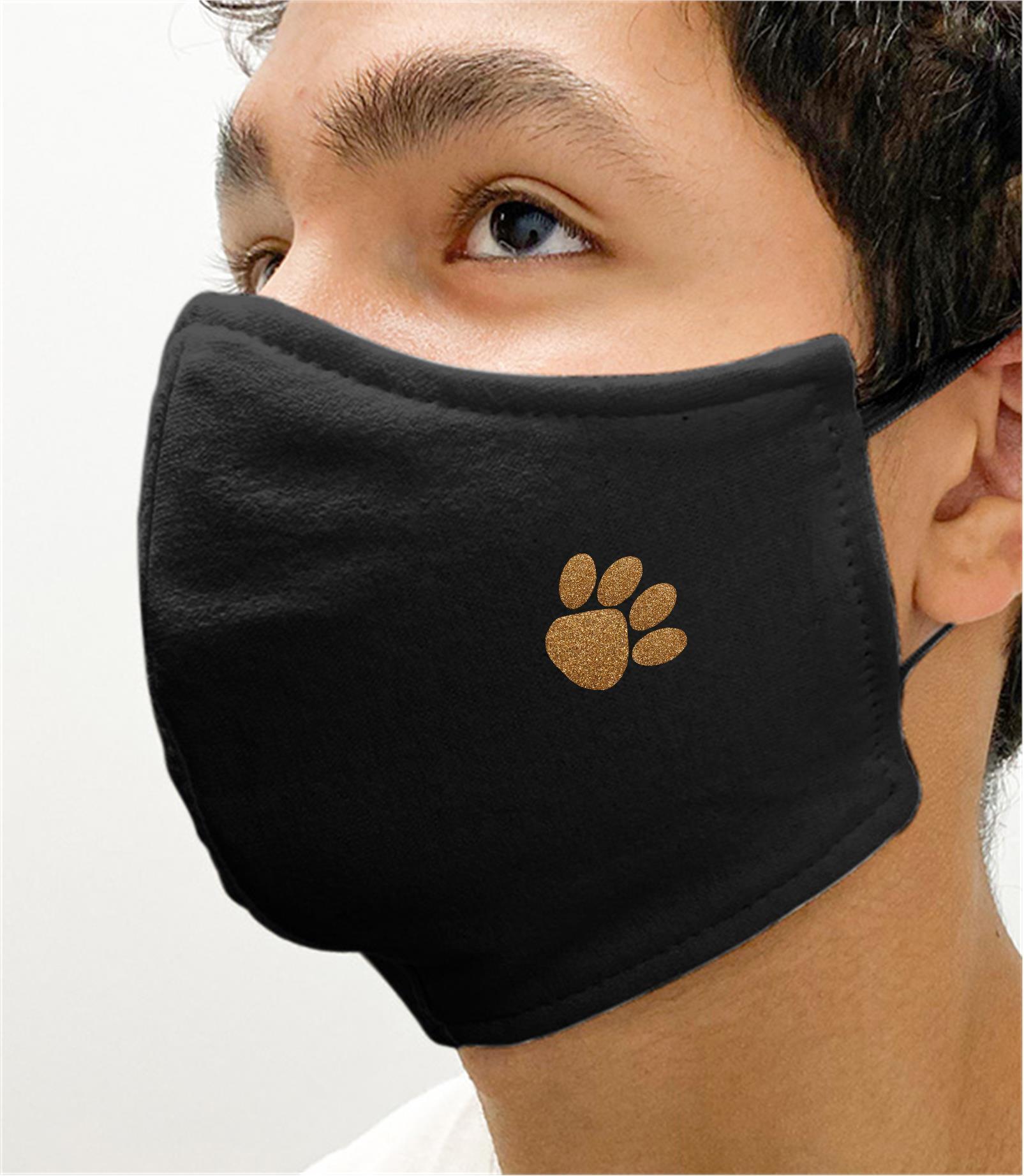 Black Mask with Cedar Grove Glitter Paw