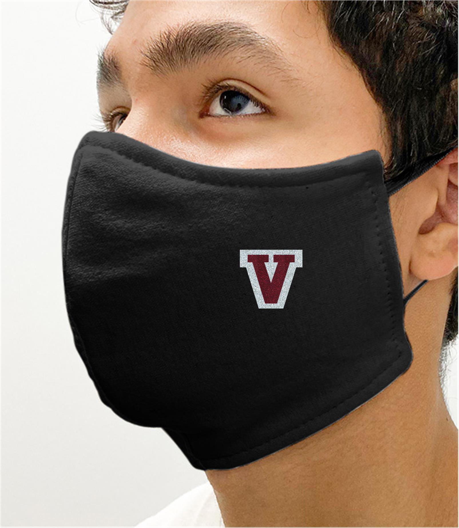 Black Mask with Verona Glitter V