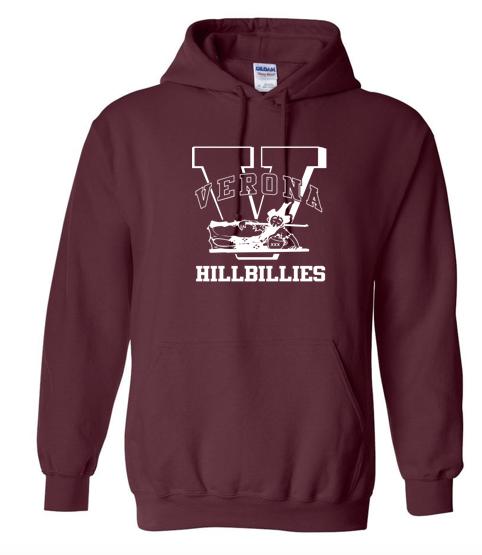 Gildan VERONA HILLBILLIES Hooded Sweatshirt - Maroon