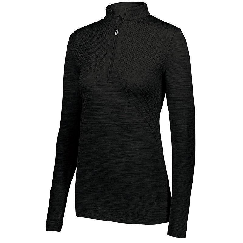Holloway Ladies Striated Half Zip Pullover