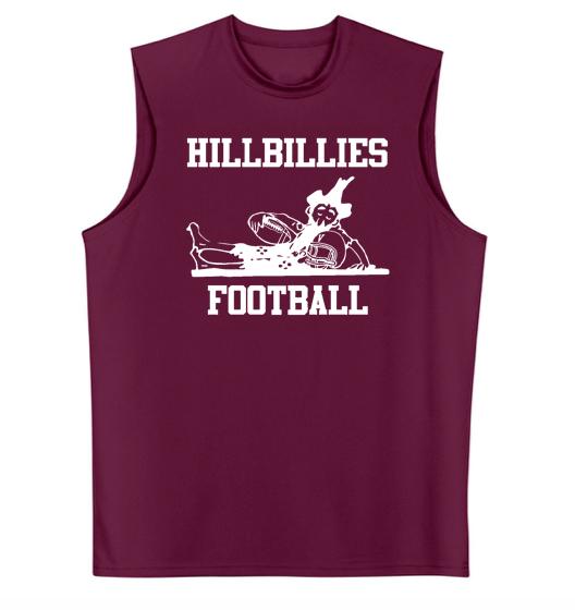 A4 Hillbillies Football Cooling Performance Muscle T-Shirt