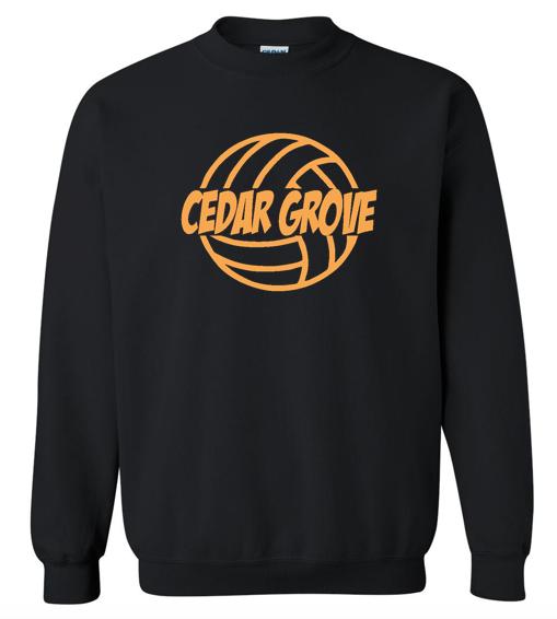 Gildan Cedar Grove Volleyball Crewneck Sweatshirt