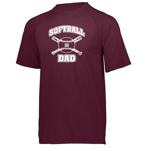 Holloway Softball Dad Swift Wicking Shirt