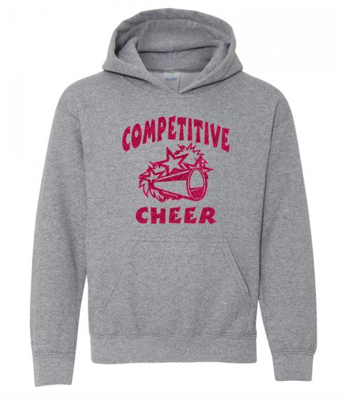 Gildan Glitter Flake Competitive Cheer Hoodie